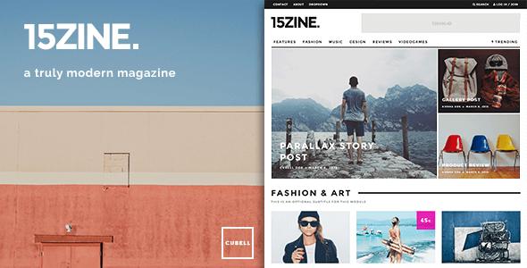 15ZINE V2.2.3 wordpress Magazine Theme