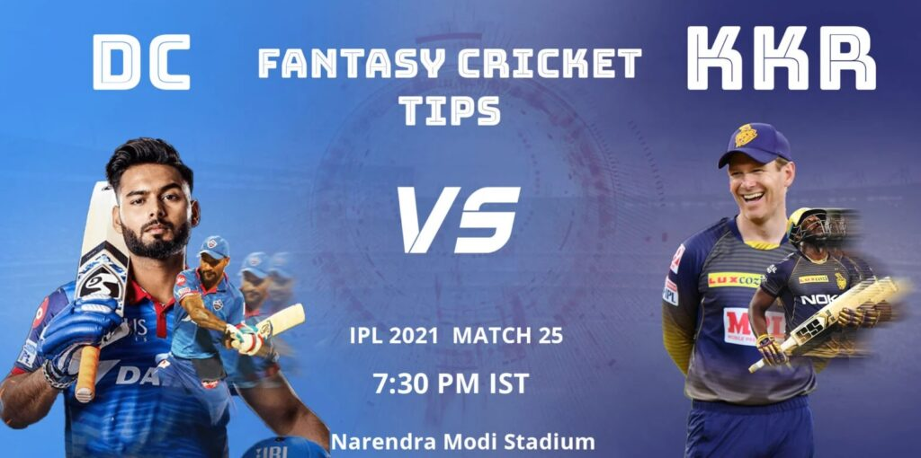 DC vs KKR Dream11 Predicion