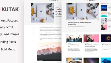 KUTAK V2.2 – MINIMAL BLOG WORDPRESS THEME