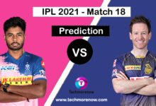 RR vs KKR Dream11 Prediction