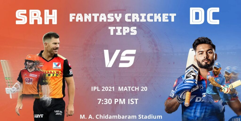 SRH vs DC Dream11 Predicions