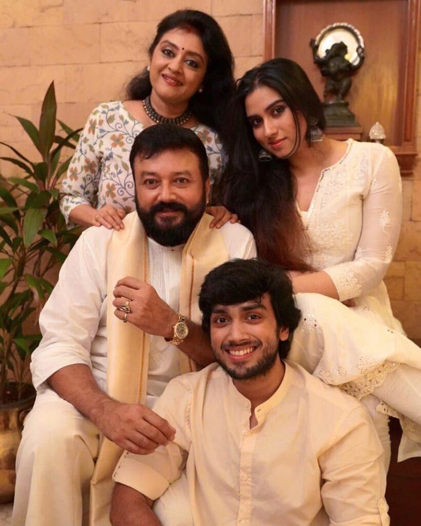 Malavika Jayaram Family