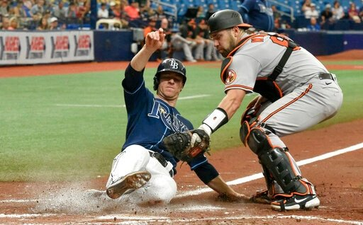 Meadows 2-out, 2-run Single In 9th, Rays Beat Orioles 5-4