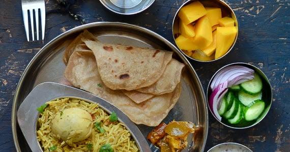 Simple Weekend Thali - Egg Biriyani - Pressure Cooker Method