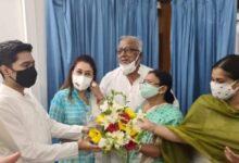 Abhishek Banerjee at Sukhendu Sekhar's residence in Delhi