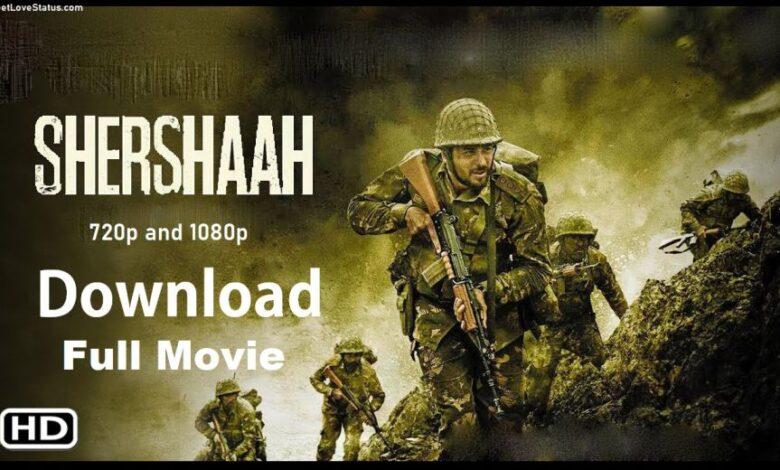 Shershaah Download Full Movie HD 720p, 1080p Filmyzilla, Moviesflix