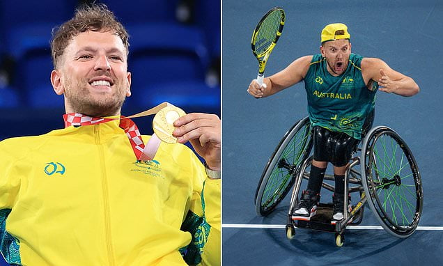 Dylan Alcott wins back-to-back Paralympic quad singles gold at Tokyo Paralympics