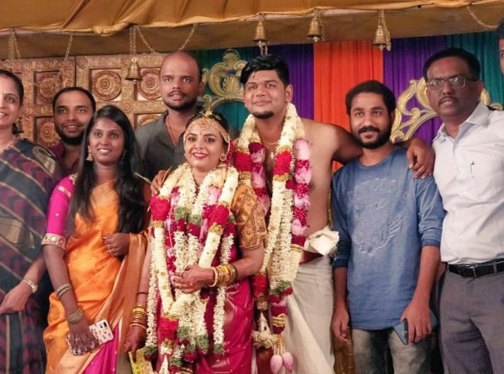 VJ Abishek Raaja Marriage Photo